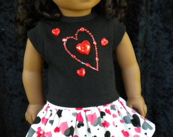 """Sweetheart set to fit American Girl Doll or similar 18"""" dolls."""