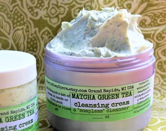 "Matcha Green Tea Facial Cleanser-OR Choose: Coconut/Oatmeal OR Carrot-A ""Soapless"" Alternative-Great for ""Problem Skin"""