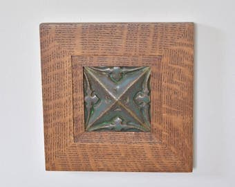 """Rowe frame with 6"""" x 6"""" Motawi tile"""