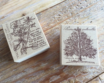 New-Beautiful Japanese Flora & Tree Wooden Rubber Stamps for Journaling, card Invitation Making, Scrapbooking, Party Favor, Gift Decoration