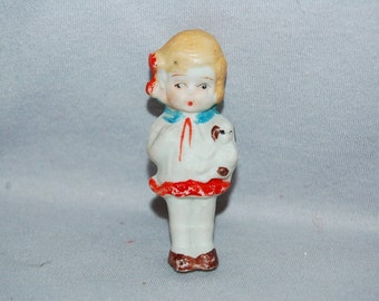 Vintage / Bisque / Doll / Girl / Puppy/ penny doll / frozen charlotte / vintage dolls