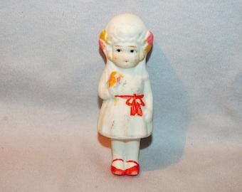 Frozen Charlotte Bride Bisque Doll / Vintage /  Penny Doll /  Vintage Dolls