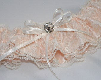 Lace Garter, Blush Wedding Garter, Ivory Wedding Garter - The TANYA Garter