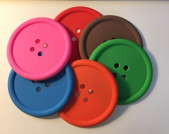 Button Coasters Craft Room Buttons Coasters Button Collector