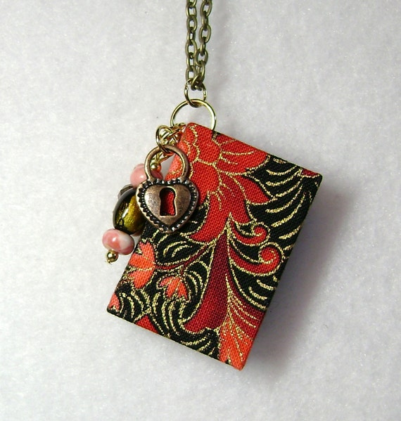 Book Cover Handmade Jewellery : Best teacher gift handmade book necklace jewelry