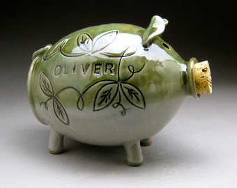 Large Piggy Bank - Personalized