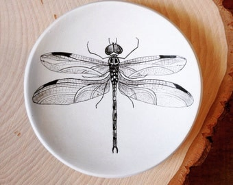 dragonfly jewelry dish, trinket dish, engagement ring dish, dragonfly art plate, mom gift mom, gifts for gardeners, Mothers Day Gift