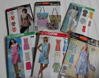 6 Sewing Patterns Destash