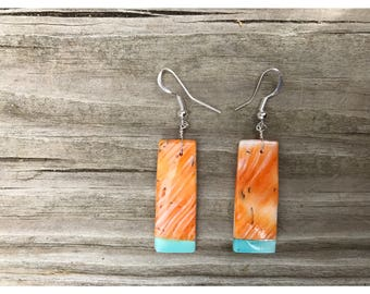 Shell and Turquoise Earrings
