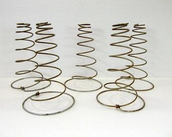 5 Antique Rusty Metal Bed Springs Coils Primitive Crafts Nodders Make Do