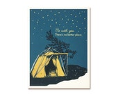 Romantic Card - Starry Tent