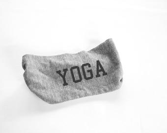 Yoga Head Band - Womens Head Band-  Unisex - Mens Heather Grey yoga hat, turban - hat - headwear - hair accessories