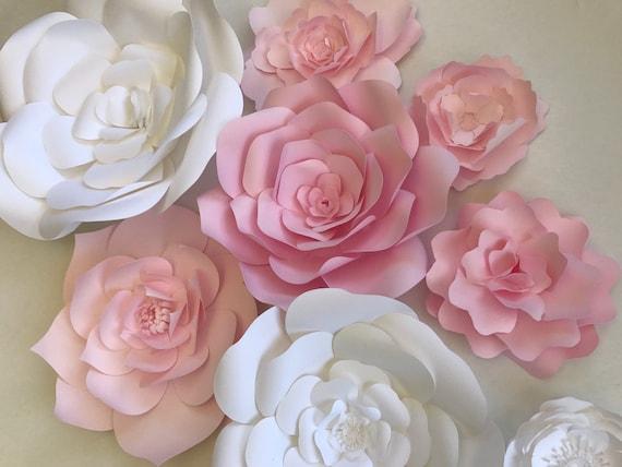 paper flower wall decor nursery wall art pink paper