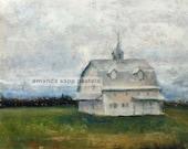 Washington Courthouse Barn print of original pastel painting
