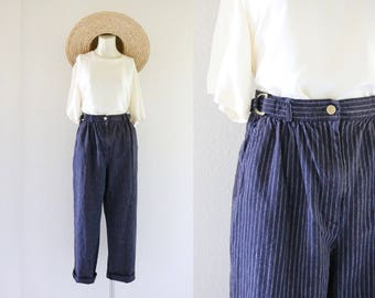 charcoal linen trousers / m