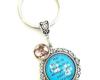 Pet Loss Gift, Photo Keyring, Personalized Keyring, Custom Photo Keyring, Dog Loss Gift, Memorial Pet Loss Gift, Custom Text Photo Keyring