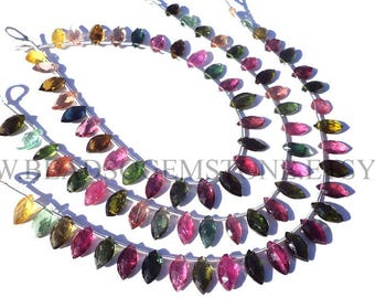 Multi Tourmaline Faceted Marquise (Quality AAA) / 5x9 to 5.5x10 mm / 18 cm / TOURMA-056