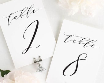 Dramatic Romance  Table Numbers - 4x6""