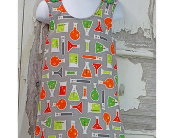 Beakers and Test Tubes Child's Cross Back Apron, Children's clothing, Apron Dress