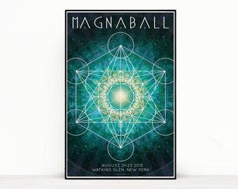 Phish Poster - Magnaball Festival, Watkins Glen NY 2015