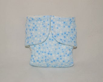 Doll Diaper - Tiny Blue Stars - Size Large