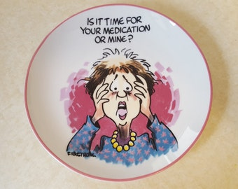 Funny Gift Finkstrom Plate Funny Plate Funny Saying Finkstrom Plate Old Age Plate Collectible Finkstrom Plate Annoyingly Honest Plate