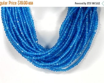 ON SALE AAA Neon Apatite Beads Rondelles Faceted Calibrated Rondels Roundels Earth Mined Gemstone  Semi Precious - 6-Inch Strand  3mm