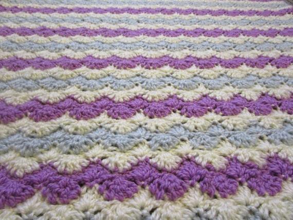 Crochet Pattern For Zig Zag Rug : Crochet Afghan Pattern, Easy Crochet Blanket Pattern, Zig ...
