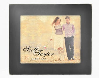 TimberPrintz Personalized Framed Photo Printed on Real Wood Photo 18x21
