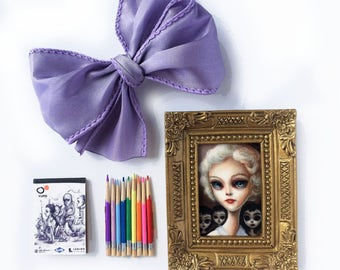 LAST ONE Big Eyed Dolly Gift Set - by Mab Graves