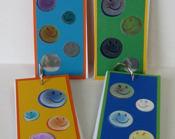 Happy Faces Set Of Four Pocket Notebooks For Christmas And Kids' Gifts
