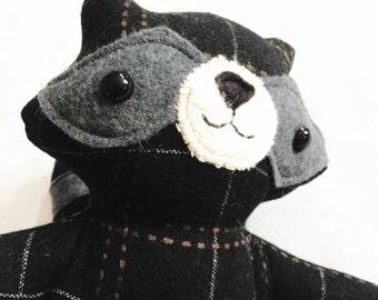 Blackheart Raccoon Stuffed Animal - Ready to Ship