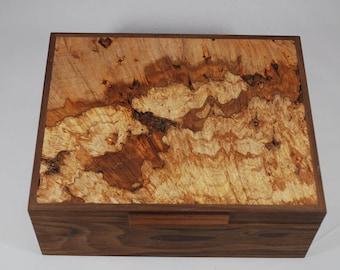 Watch Box - Walnut & Spalted Maple
