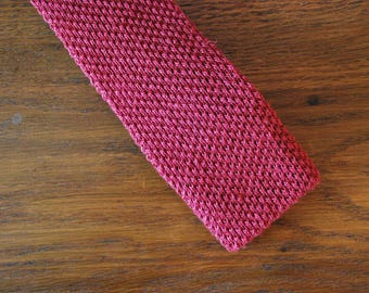 Brooks Brothers Irish Linen red sweater tie 1980s 80s