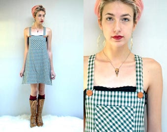 90s Overall Dress  //  Gingham Check Dress  //  GINGHAM STYLE