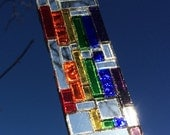 Pride Rainbow Sun Catcher, Contemporary Window Pride Sun Catcher, Sparkling Rainbow Sun Catcher, Mirror Mosaic Sun Catcher, Sparkle Pride