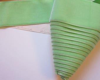 3.5 yards velvet ribbon - light green - 2 inches wide