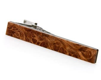 Redwood Burl Tie Bar - Unique Gift For Wedding, 5th Anniversary, Fathers Day, Groomsmen, Groom, Best Man, Father Of The Bride,