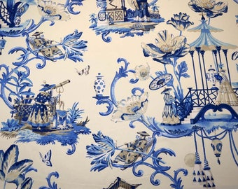 East Of The Moon Porcelain Waverly Fabric