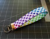 Rainbow Polka Dots Key Fob