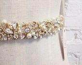 RESERVED- CUSTOM- Crystal Bridal Belt- Narrow Bridal Belt- Swarovski Crystal Bridal Sash