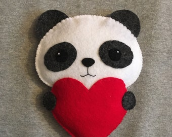 Panda with a Red Heart