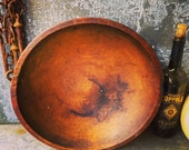 Primitive Wooden Bowl / 15""