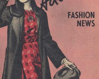 HALF PRICE SALE November 1938 Advance Pattern Booklet - 1930s Vintage Fashion Illustrations Pdf Copy - Instant Download