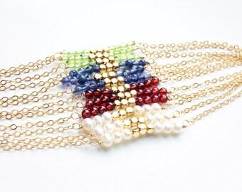 Beaded Bracelet, Delicate Bracelet, Stocking Stuffer, Gemstone Bracelet, Holiday Gift