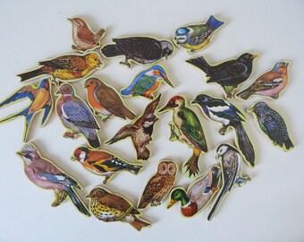 Vintage bird watching wooden Jigsaw puzzle