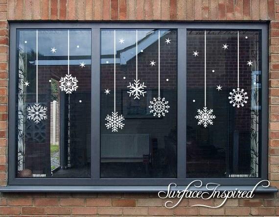 Snowflake Christmas Window Wall Decals Christmas Decor