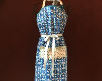 Apron Squares and Rectangles full Blue Apron