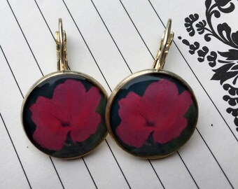 SALE!!!! Paw Paw Petunia - Short Dangle Photograph Earrings.