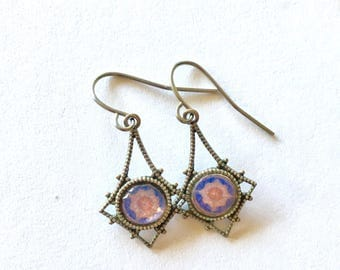 Chilean Cathedral Floor - Vintage Photograph Earrings